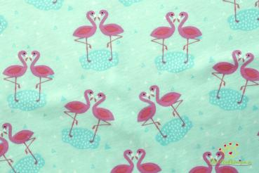 Baumwoll Jersey Stretch Flamingo