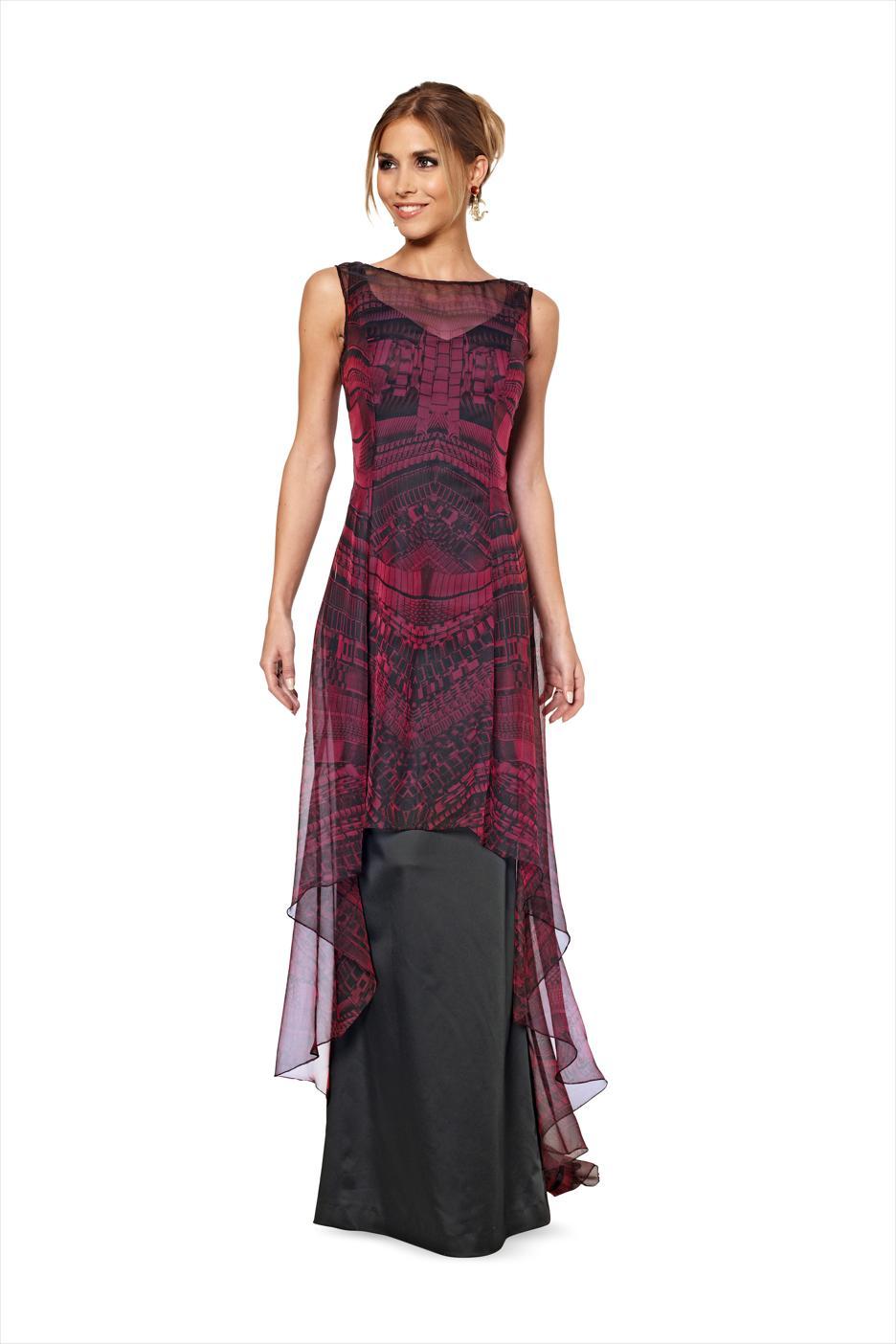 Burda 6866 Schnittmuster Abendkleid Transparent Damen Gr 36 48