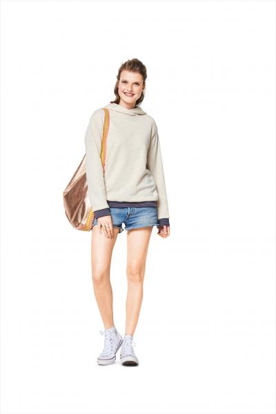 Burda 6406 Schnittmuster Sweater, Hoody & Shirt (Damen, 34 - 44)